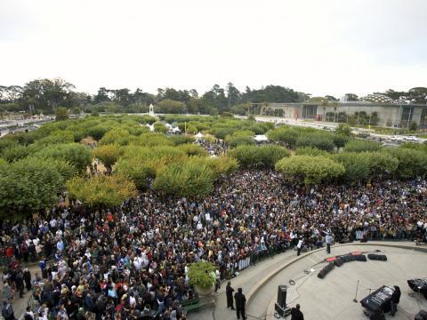 Das Outside Lands Music Festival im Golden Gate Park in San Francisco, Kalifornien
