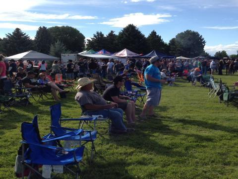 Besucher auf dem Yellowstone Beer Fest