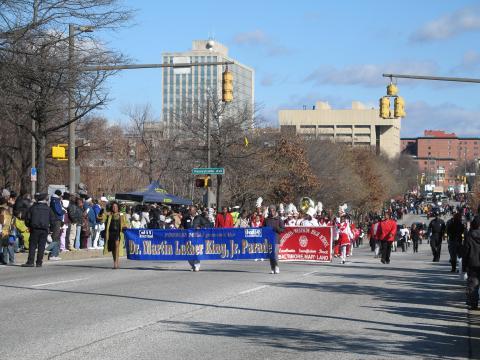 jährliche Parade zu Ehren von Martin Luther King Jr. an seinem Geburtstag in Baltimore
