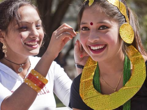 Lachende Gesichter beim Tucson Meet Yourself Folklife Festival