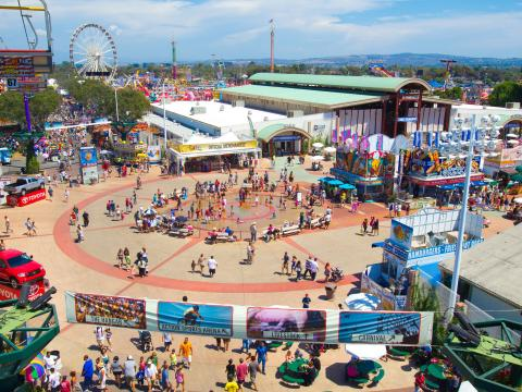 Orange County Fair von oben