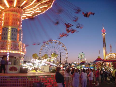 Karussellfahrt auf der Minnesota State Fair