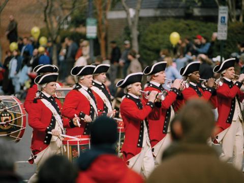 Spielmannszug auf der Parade beim George Washington's Birthday Celebration Weekend