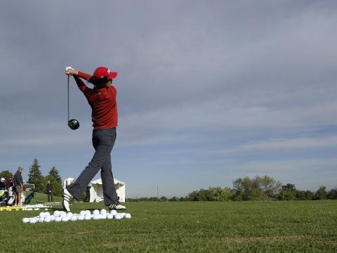 Abschlag beim Golfturnier Albertsons Boise Open