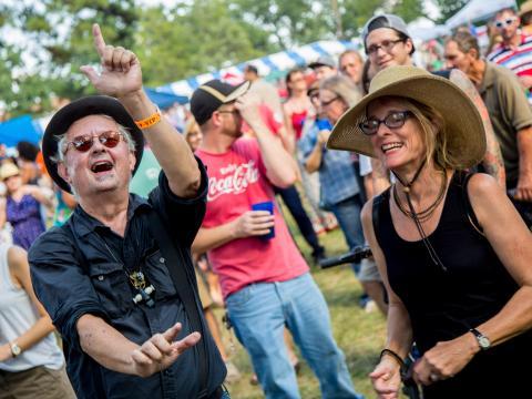 Begeisterte VIPs beim Highland Jazz and Blues Festival