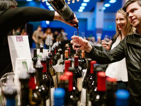 Weinprobe bei Taste Washington