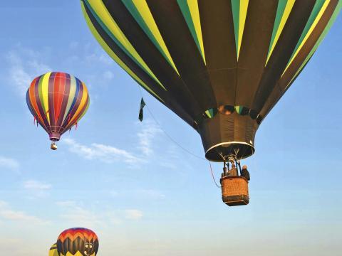 Heißluftballons beim Hot Air Balloon Festival