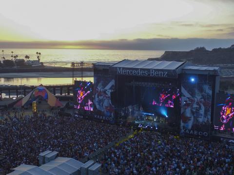 Kulisse des KAABOO Festivals direkt am Meer in San Diego