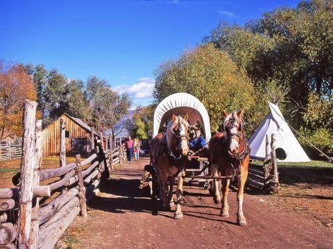 Kutschenfahrt beim Fall Harvest Festival im American West Heritage Center