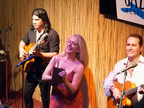 Auftritt eines Jazztrios beim Amelia Island Jazz Festival