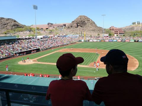 MLB-Trainingsspiel in Tempe, Arizona