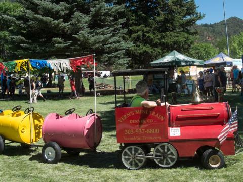 Festlichkeiten bei den Strawberry Days in Glenwood Springs