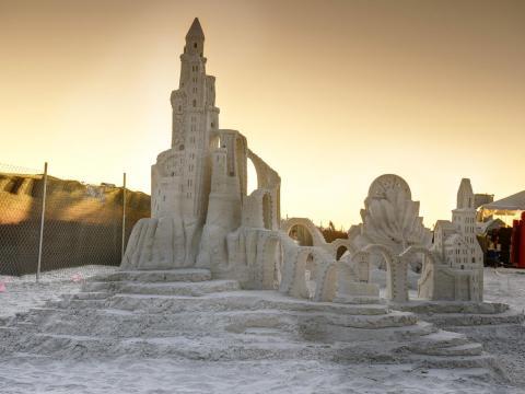 Imposante Sandburganlage bei der American Sandsculpting Championship
