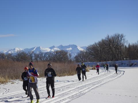 5000-Meter-Lauf im Rahmen des Rio Frio Ice Fest in Alamosa, Colorado