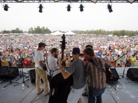 Konzert im Rahmen des Bluegrass-Festivals ROMP in Owensboro, Kentucky