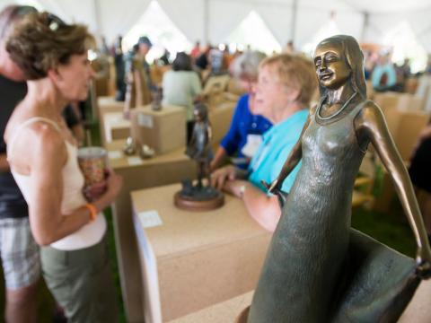 Kunstevent beim Sculpture Show Weekend in Loveland, Colorado