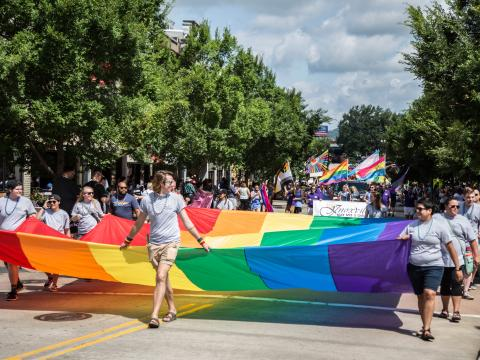 Parade beim Knox Pridefest in Knoxville, Tennessee